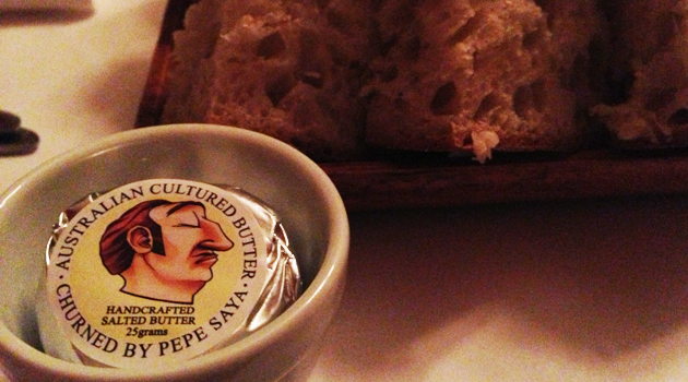 House-baked bread with Pepe Saya butter