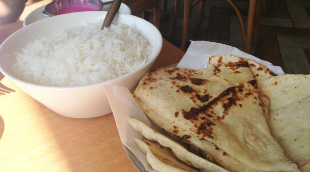 Rice and raita