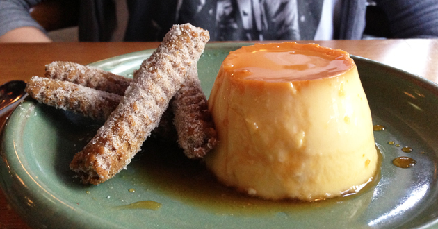 Flan (Creme Caramel served with Pestinos), $10.50