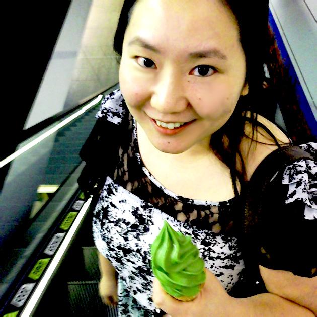 Matcha soft serve from Chanoma Cafe, Sydney