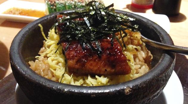 Hot Stone Unagi Rice, $10 (Grilled Japanese eel on rice with original Kabayaki sauce)