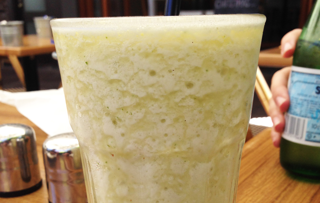 Pineapple and Mint Frappe, $6.50