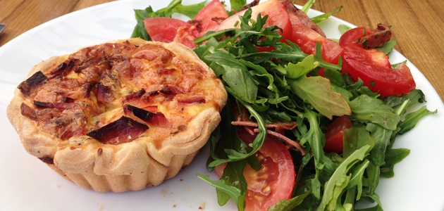 Quiche Lorraine with Prosciutto Side Salad, $10