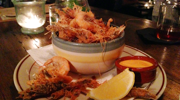 Salt & Pepper Prawns (with 'dynamite' aioli and lemon), $14