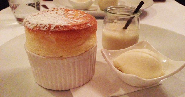 Souffle at Restaurant Atelier, Glebe