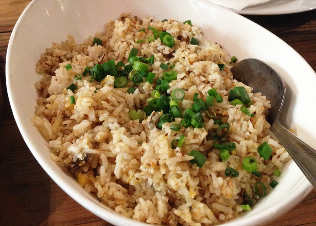 Tuyo fried rice (with dried fish flakes and scrambled eggs), $7.50 medium size
