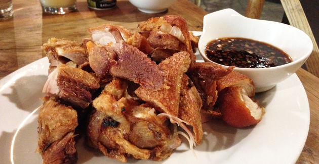 Crispy Pata (Knock Out Knuckles, traditional fried spiced crispy knuckle), $18