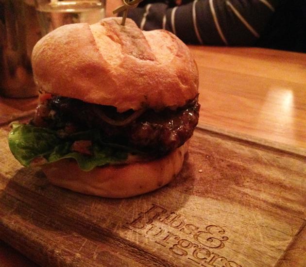 Lamb burger, $16