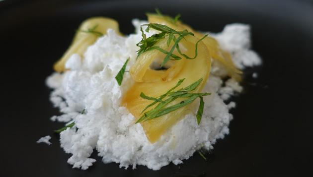 Coconut Cloud,  roasted pineapple, mint, 14.00