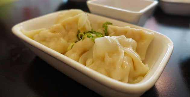 Handmade pork dumplings, $7.70