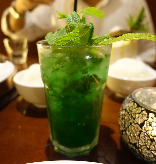 Sparkling Mint mocktail, $6