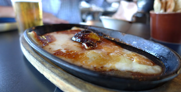 Cheese (Saganaki, balsamic honey, figs), $14.50