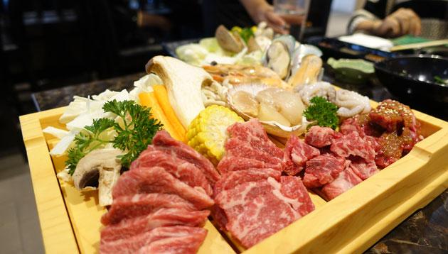 Wagyu and Seafood Platter, $38.50