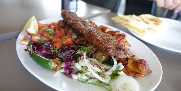 Mixed Grill Plate at Sofra Restaurant