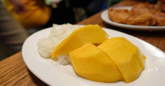 Mango and sticky rice, $6.90