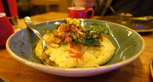 Shrimp & Grits, $12