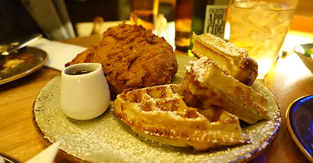 Fried Chicken and Waffles, $24