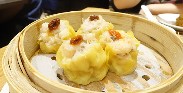 Pork dumpling with shrimp, $7.20