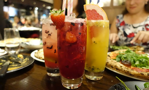 Mix of mocktails, $12 each