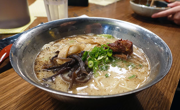 Kakuni Tonkotsu (White Tonkotsu with braised tender pork belly and garlic oil), $15.80