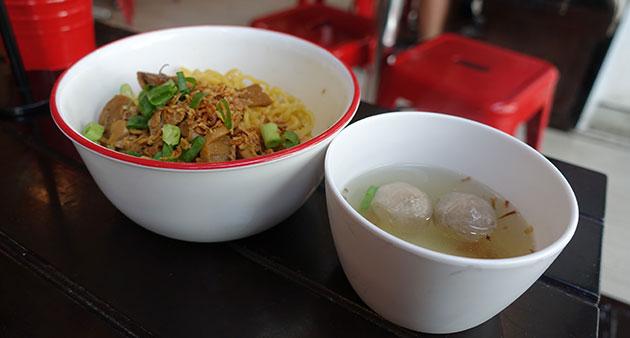 Mie Ayam Bakso, $10