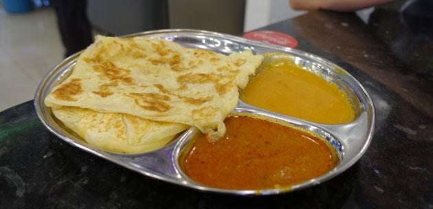 Roti Chanai Biasu (RM1.30) and Roti Boom (RM2.10)