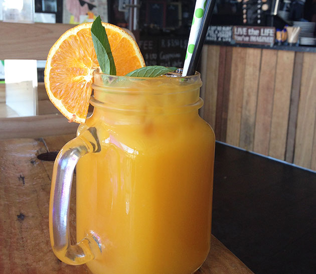 Freshly Squeezed Orange Juice ($6.50)