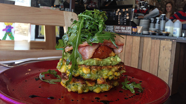 Stacked Corn Rosti ($14)