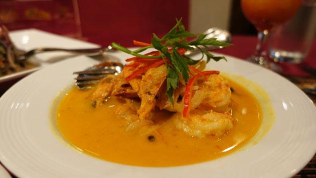 Udang Lemak Merah (prawns in a rich creamy sauce) $42RM