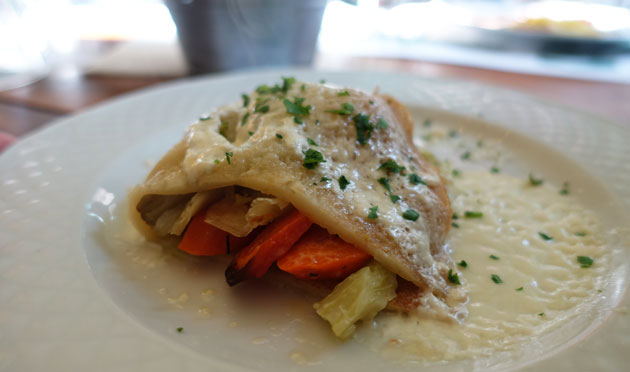 Crepes with vegetables