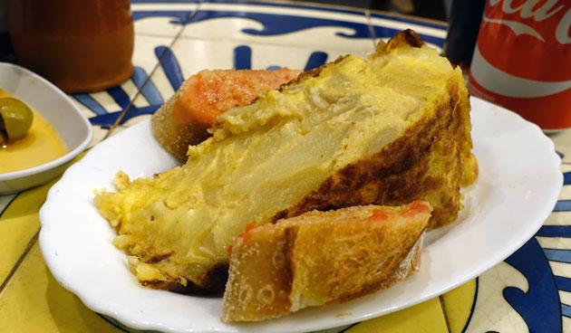 Spanish omelette, 3.80 Euro