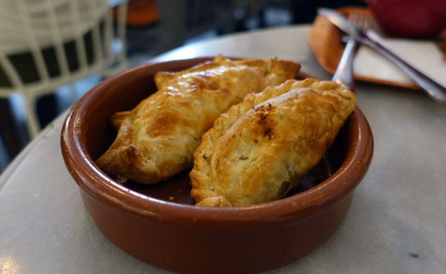Empanadas ($10 Euro for 4) - chicken, york ham & cheese