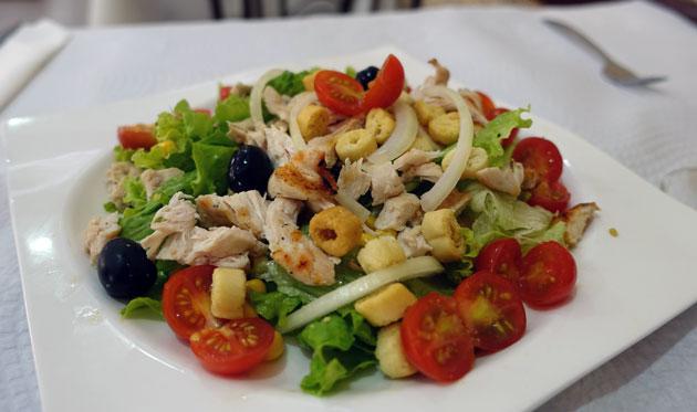 Chicken Salad, approx $7 Euro