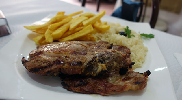 Grilled Pork Chops, $7 Euro