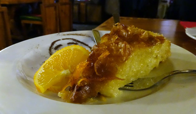 Sweet pastry 'Banitza' with orange syrup, 3.20 Bulgarian lev
