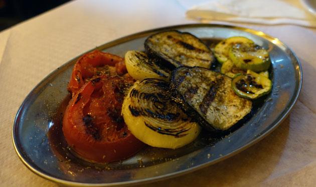 Grilled vegetables, 200 Serbian Dinar
