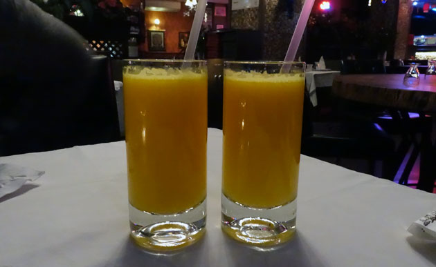 Fresh Orange Juice, 10 Turkish Lira each