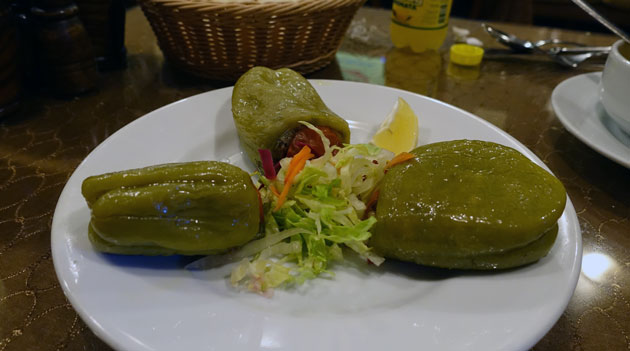 Stuffed peppers with rice, 8.50 Turkish Lira