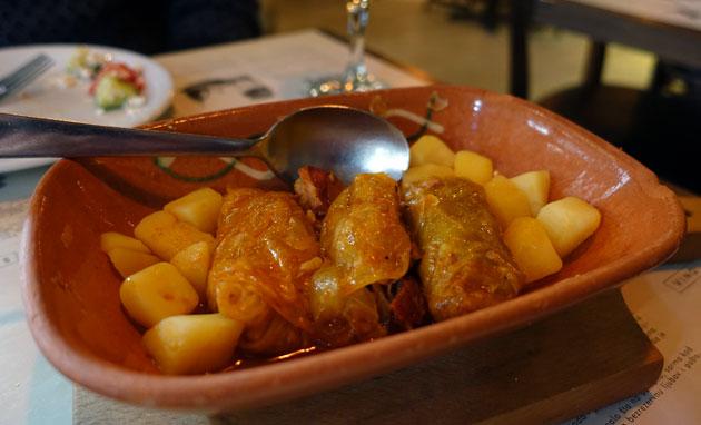 Sarma (sour cabbage rolls), 380 Serbian Dinar