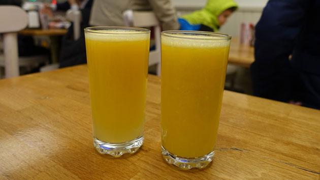 Fresh Orange Juice, 3.50 Turkish Lira each