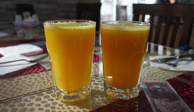 Fresh Orange Juice (7 Turkish Lira each)