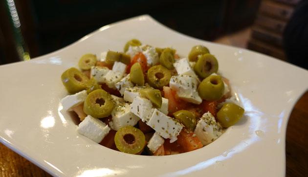 Fresh salad with feta, 205 Serbian Dinar
