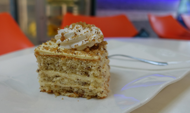 Vanilla and walnut cake, 12 Croatian Kuna