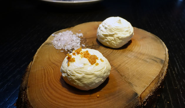Hazelnut whipped butter and Orange Ginger whipped butter