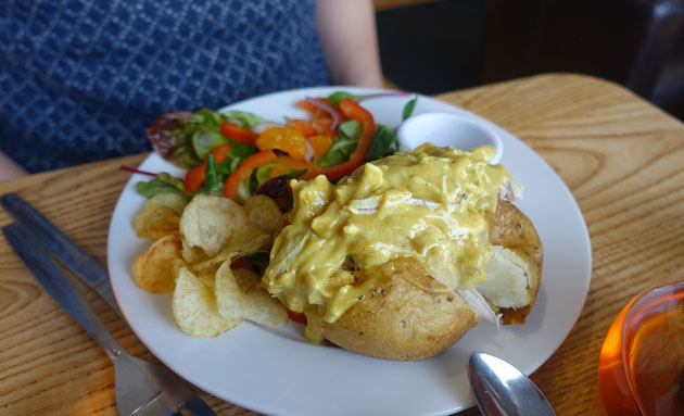 Baked Potato with Coronation Chicken, 6.95 GBP