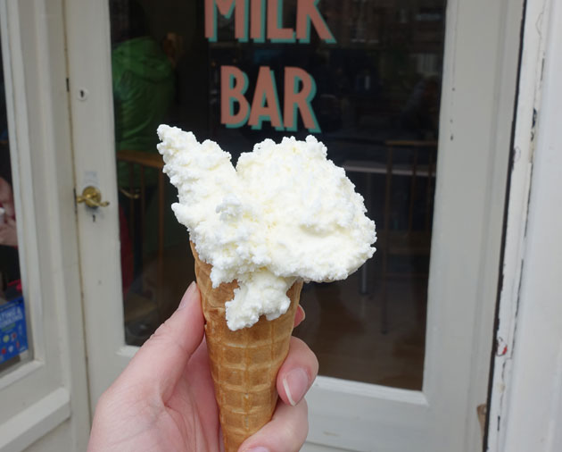 Goat's Milk and Honey ice-cream