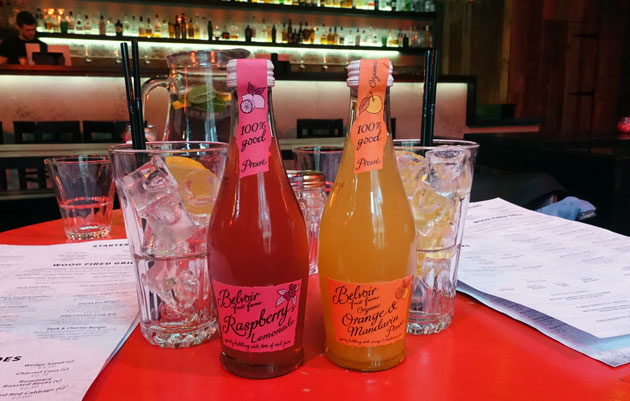 Belvoir Orange and Mandarin Presse and Belvoir Raspberry Lemonade, 2.60 GBP each