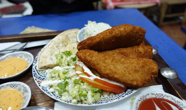 Crunchy Chicken, 25 Moroccan Dirhams