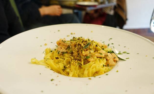 Tagliolini Salmone, 11.50 Euro