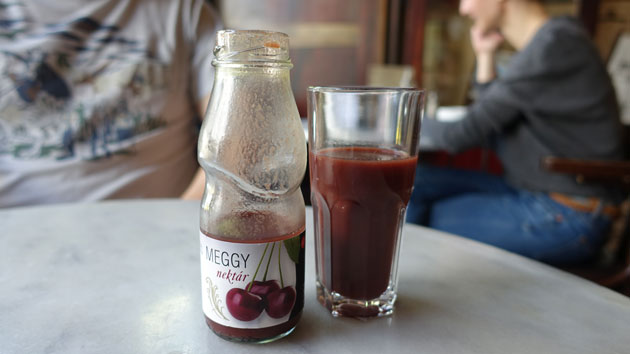 Sour Cherry organic fruit juice, 590 Hungarian Forint